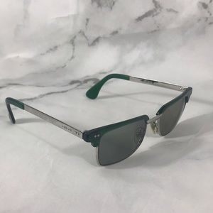 Gucci silver green glasses frames only